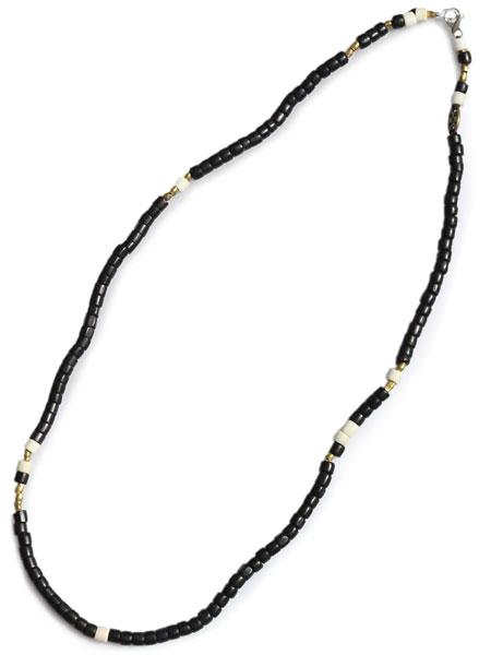 【※ポイント5倍※】GILES & BROTHER(ジャイルス・アンド・ブラザー)【Large Vintage African Bead Necklace / ラージ ヴィンテージ アフリカン ビーズ ネックレス (ブラック)】[正規品](ブレスレット/アンクレット/フリーサイズ)【送料無料】