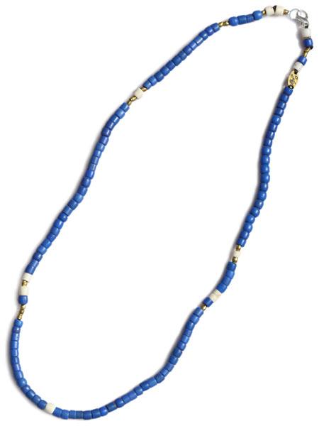 【※ポイント5倍※】GILES & BROTHER(ジャイルス・アンド・ブラザー)【Large Vintage African Bead Necklace / ラージ ヴィンテージ アフリカン ビーズ ネックレス (ブルー)】[正規品](ブレスレット/アンクレット/フリーサイズ)【送料無料】