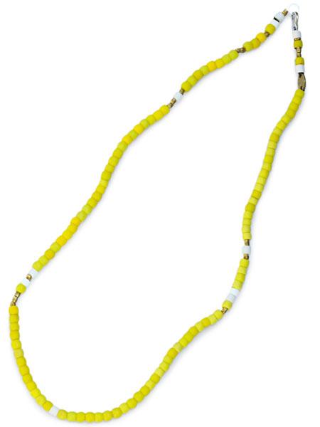 【※ポイント5倍※】GILES & BROTHER(ジャイルス・アンド・ブラザー)【Large Vintage African Bead Necklace / ラージ ヴィンテージ アフリカン ビーズ ネックレス (イエロー)】[正規品](ブレスレット/アンクレット/フリーサイズ)【送料無料】