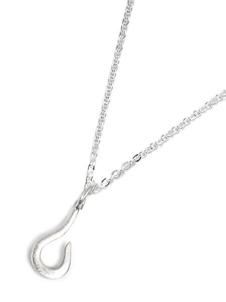【※ポイント5倍※】GILES & BROTHER(ジャイルス・アンド・ブラザー)【Tiny Fish Hook Necklace Silver / タイニー フィッシュ フック ネックレス シルバー】[正規品](ペンダント/チャーム/調節可能/メンズ/レディース)【送料無料】