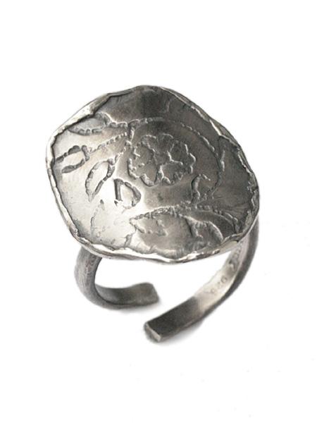 【※ポイント5倍※】HARIM(ハリム)Flower stamp ring / [HRR027] リング 指輪 シルバー 花 フラワー メンズ レディース【送料無料】