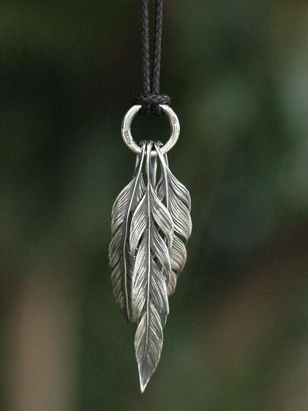 【※ポイント5倍※】HARIM(ハリム)Owl feather set 1 (Black Cord) / [HRP036S_Black Cord] ネックレス ペンダント シルバー メンズ レディース【送料無料】
