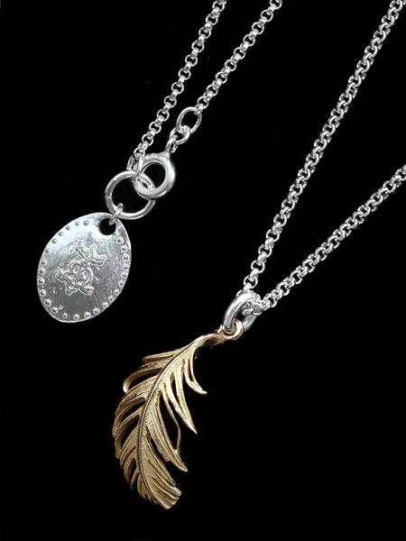 【※ポイント5倍※】HARIM(ハリム)GOLD FEATHER Necklace (18k Gold) / [HRP113G_K18] フェザー ネックレス ペンダント ゴールド シルバー メンズ レディース【送料無料】