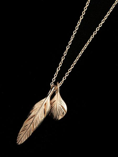 HARIM(ハリム)[正規取扱店]【最短即日発送】【後払い・返品OK!】 【※ポイント5倍※】HARIM(ハリム)Slender feathers Half Very shine Necklace GP / [HRP105GP] ネックレス フェザー ペンダント ペンダント ゴールド メンズ レディース【送料無料】