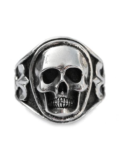 超安い Lee Downey リーダウニー 正規取扱店 最短即日発送 後払い 返品OK ※ポイント5倍※ Sculpted Skull Ring レディース ドクロ 送料無料 リング Silver - メンズ スカル セール特別価格 シルバー 指輪