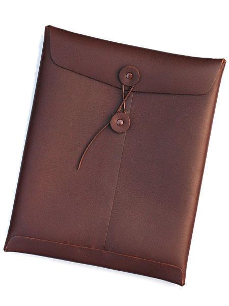【※ポイント5倍※】gbb custom leather(gbb カスタム レザー)Leather iPad Case (Chocolate) / アイパッド ケース レザー 革 チョコレートブラウン メンズ レディース【送料無料】