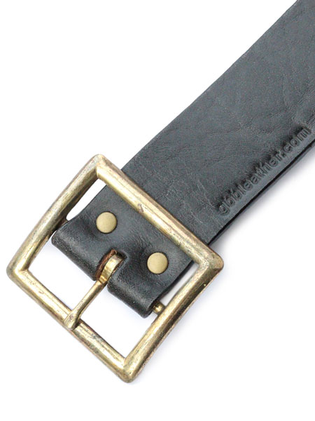 ポイント5倍gbb custom leather gbb カスタム レザー JD Belt ベルトブラックレザー バックル 革 黒 ブラス ゴールド 真鍮 メンズ レディース 送料無料OuXikZPT