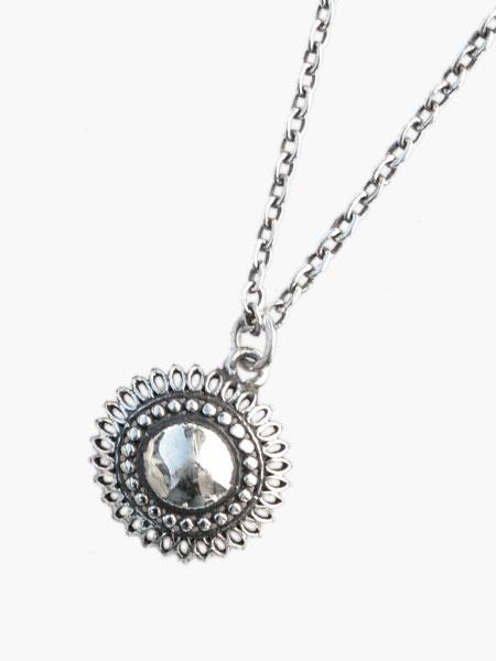 IDEALISM SOUND(イデアリズムサウンド)【Large Sun Necklace (Silver) [No.12065] ラージサンネックレス】[正規品](ペンダント/調節可能/スターリングシルバー/オーバルチェーン/喜平/太陽/花/銀/925/ギフト/プレゼント/ユニセックス/メンズ/レディース)【送料無料】