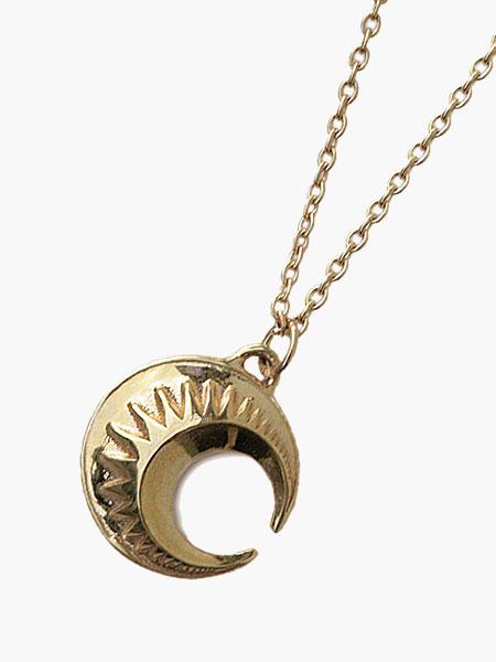 IDEALISM SOUND(イデアリズムサウンド)【Large Moon Necklace (Gold) [No.11108] ラージムーンネックレス (ゴールド)】[正規品](ペンダント/10Kイエローゴールド/月/調節可能/金/天然石/ペア/ギフト/プレゼント/ユニセックス/メンズ/レディース)【送料無料】