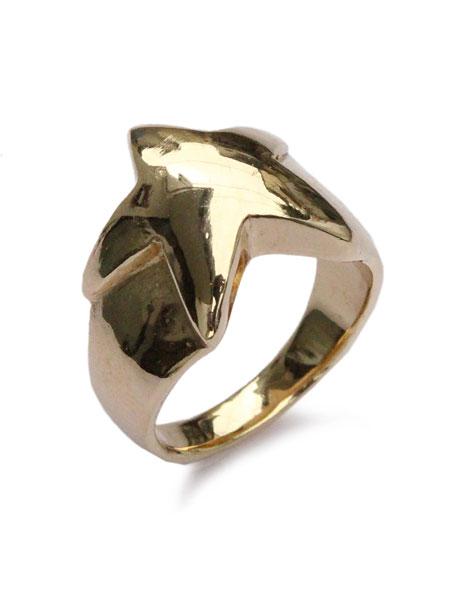 【※ポイント5倍※】ACE by morizane(エースバイモリザネ)【star ring 18k gold plated スターリング ゴールドプレート】[正規品](指輪/ピンキー/シルバー/シンプル/金/星/銀/925/シンプル/ペア/ギフト/プレゼント/ユニセックス/メンズ/レディース)【送料無料】