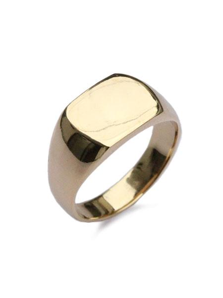 ACE by morizane(エースバイモリザネ)[正規取扱店]【最短即日発送】【後払い・返品OK!】 【※ポイント5倍※】ACE by morizane(エースバイモリザネ)【mans ring 18k gold plated マンズリング ゴールドプレート】[正規品](指輪/スクエア/シンプル/上品/金/印台/シルバー/ペア/ギフト/プレゼント/ユニセックス/メンズ/レディース)【送料無料】