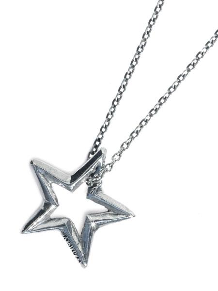 【※ポイント5倍※】amp japan(アンプ ジャパン)【Open Star Necklace [16AO-165] / オープン スター ネックレス】[正規品](ペンダント/調節可能/スターリングシルバー/オーバルチェーン/星/銀/925/ペア/プレゼント/ギフト/ユニセックス/メンズ/レディース)【送料無料】