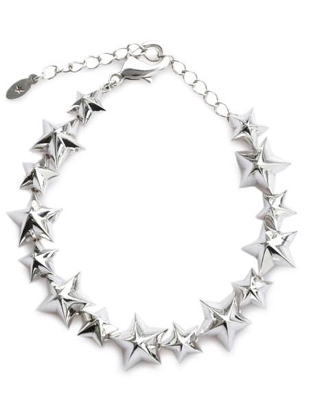 【※ポイント5倍※】amp japan(アンプ ジャパン)【Star Studs Bracelet [16AJK-464] / スター スタッズ ブレスレット】[正規品](腕輪/調節可能/スターリングシルバー/ブラス/銀/真鍮/星/925/ペア/プレゼント/ギフト/ユニセックス/メンズ/レディース)【送料無料】