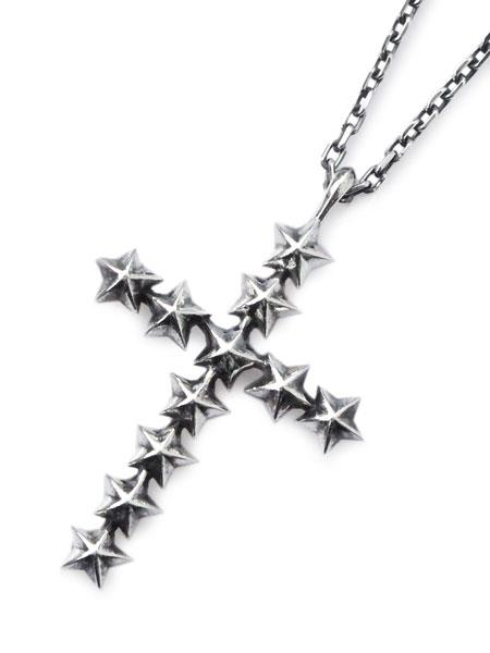 amp japan(アンプ ジャパン)【Star Studs Large Cross Necklace [16AJK-171] / スタースタッズ ラージ クロスネックレス】[正規品](ペンダント/スターリングシルバー/調節可能/銀/925/ペア/プレゼント/ギフト/ユニセックス/メンズ/レディース)【送料無料】