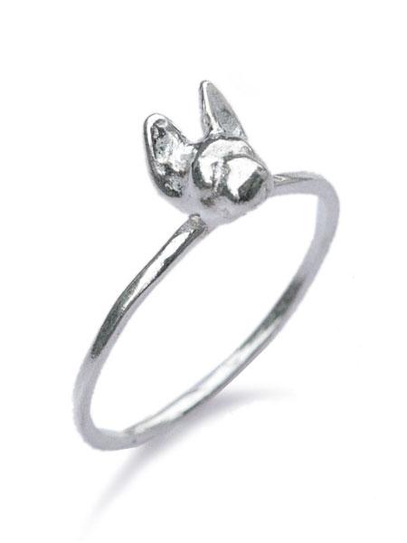 VERAMEAT(ヴェラミート)【Tiny フレンチブルドッグ リング (Silver)】[正規品](指輪/ピンキー/ファランジ/スターリングシルバー/シンプル/犬/イヌ/タイニー/キュート/可愛い/動物/アニマル/ブサカワ/銀/925/プレゼント/ギフト/レディース)【送料無料】