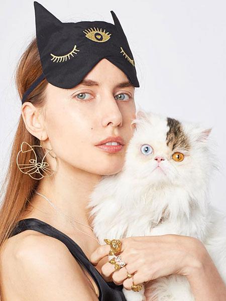 VERAMEAT(ヴェラミート)【Cat Woman Wire Art Earring / キャット ウーマン ワイヤーアートイヤリング】[正規品](ピアス/耳飾り/ネコ/猫/大ぶり/トレンド/ブサカワ/動物/アニマル/ブラスゴールド/真鍮/金/キュート/可愛い/プレゼント/ギフト/レディース)【送料無料】