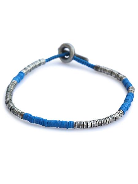 【※ポイント5倍※】M.Cohen(エム・コーエン)【sterling silver with blue beads スターリングシルバー ウィズ ブルービーズ [B-103732-SLV-BLU]】[正規品](ブレスレット/腕輪/水色/925/プレゼント/ギフト/ユニセックス/メンズ/レディース)【送料無料】