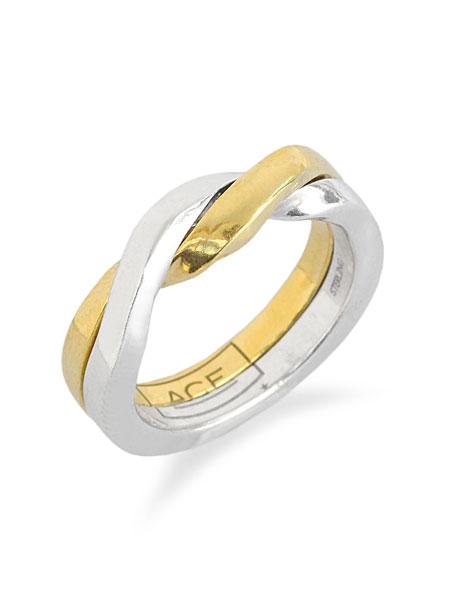 【※ポイント5倍※】ACE by morizane(エースバイモリザネ)【acegimmel ring k18 gold plated / エース ギメル リング】[正規品](指輪/シンプル/上品/ペア/プレゼント/ユニセックス/メンズ/レディース)【送料無料】