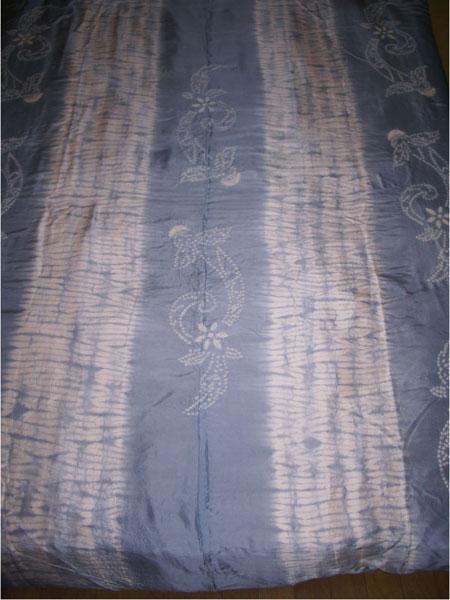 【千鶴の真綿ふとん】 羽二重絞り真綿布団(鴨川・ブルー)2.0kg