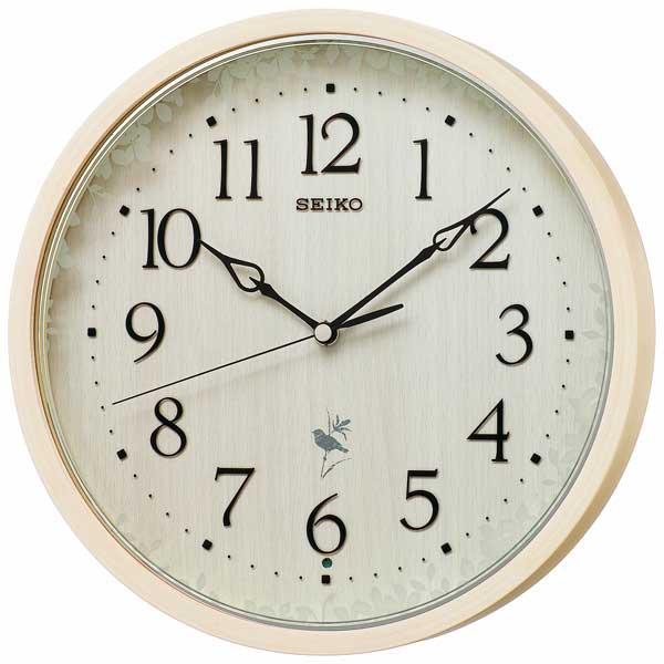 【SEIKO】セイコー 報時付き電波掛時計(ネイチャーサウンド音源) RX215A
