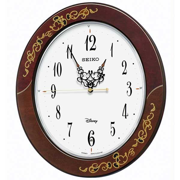 【SEIKO】セイコー ミッキー&ミニー 大人ディズニー電波掛時計 FS510B