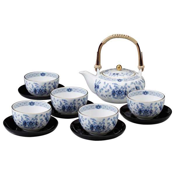 【NARUMI】 【ナルミ】 ボーンチャイナ ミラノ和風シリーズ 茶器揃(茶托付) 9682-23031
