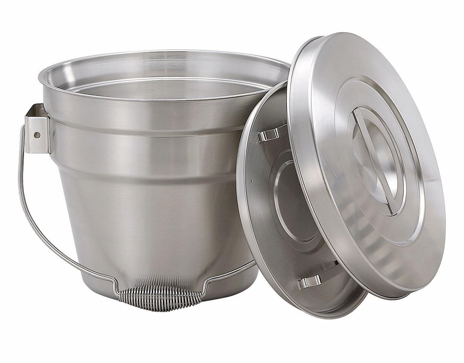 ( 送料無料 ) 【 給食 厨房用 】 オールステンレス食缶6L シャトルドラム GBB-06 【 ステンレス バケツ 】