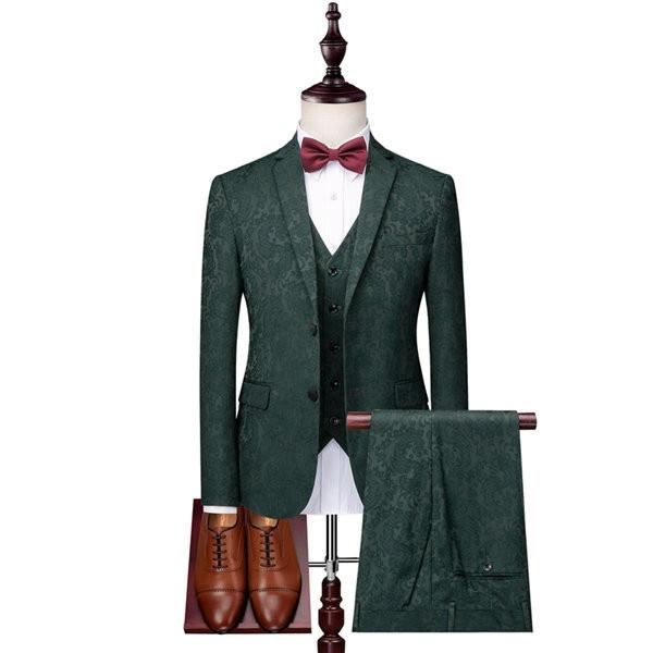 フォーマルスーツ 2ツボタン 3点セット カジュアル メンズスーツ ビジネススーツ 就活 紳士服 大きいサイズ スリムスーツ おしゃれスーツ 結婚式 二次会 入学 入社式 シングル 男性用 グリーン dg207g4g4x2