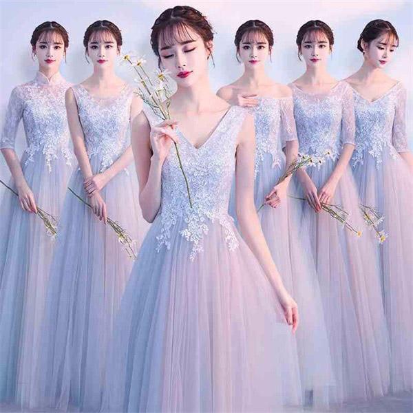 【サイズ有XS~2XL】ブライズメイド ドレス ロング 大きいサイズ 二次会 パーティー 結婚式 体型カバー Aラインドレス フォーマル 謝恩会 二次会 卒業式 発表会 演奏会 di838zezex1/代引き不可
