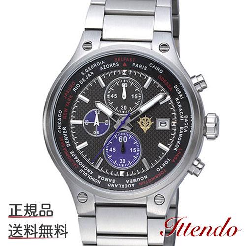 GUNDAM WATCH 機動戦士ガンダムオフィシャルウォッチ 黒い三連星モデル 9ZR002MG02 腕時計 クオーツ リズム時計工業