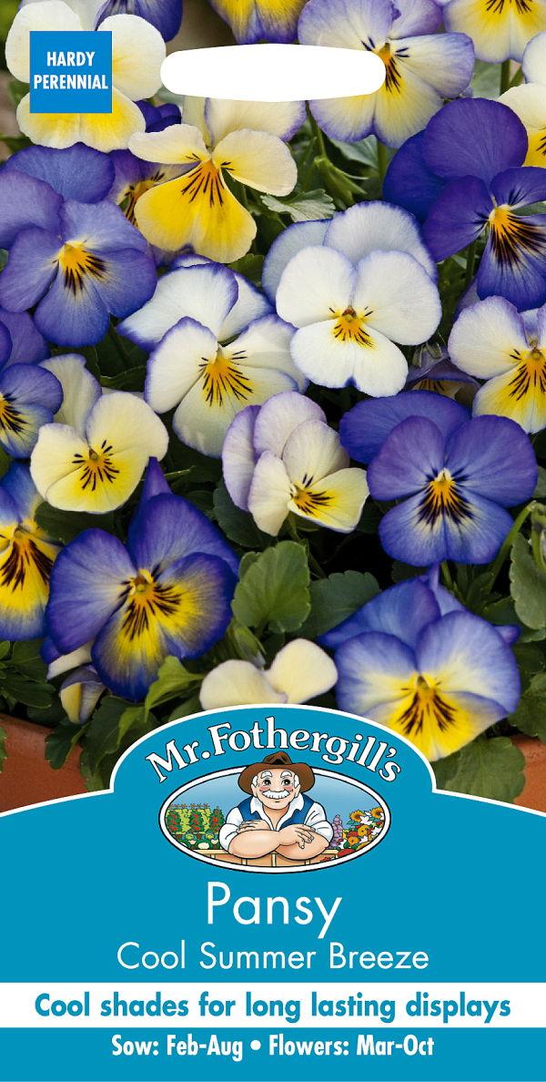 長期間開花するクール シェイドカラー 輸入種子 Mr.Fothergill's Seeds Pansy Cool Summer Breeze クール ラッピング無料 サマー 早割クーポン ミスター フォザーギルズシード ブリーズ パンジー