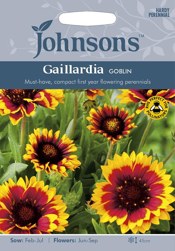 コンパクトで素敵な花を長期間楽しめます! 【輸入種子】Johnsons Seeds Gaillardia GOBLIN ガイラルディア ゴブリン ジョンソンズシード