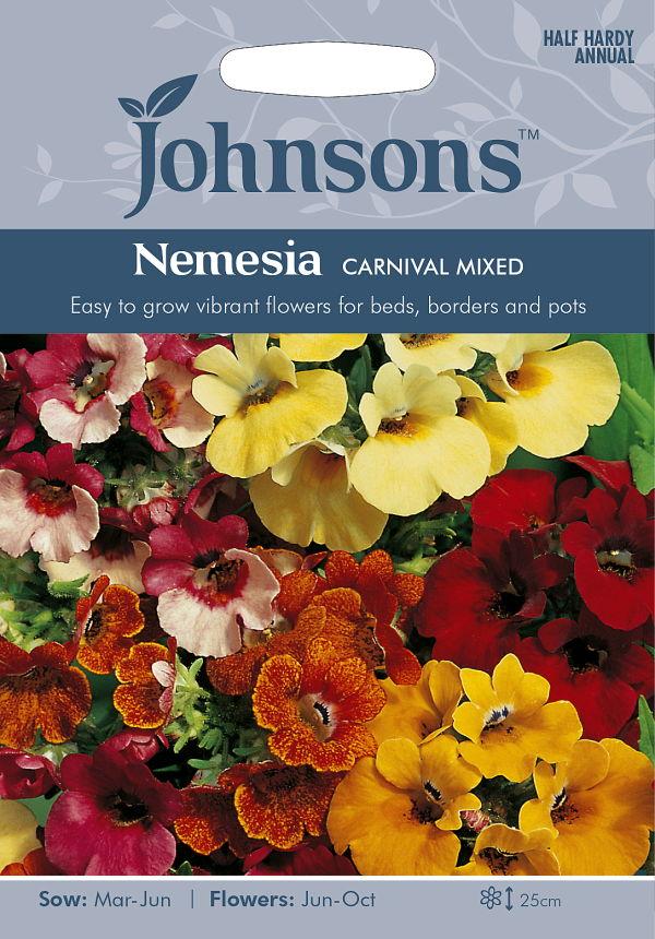 超安い まさにカラフルな花色のネメシア 輸入種子 Johnsons SeedsNemesia 完全送料無料 CARNIVAL カーニバル ミックスジョンソンズシード MIXEDネメシア