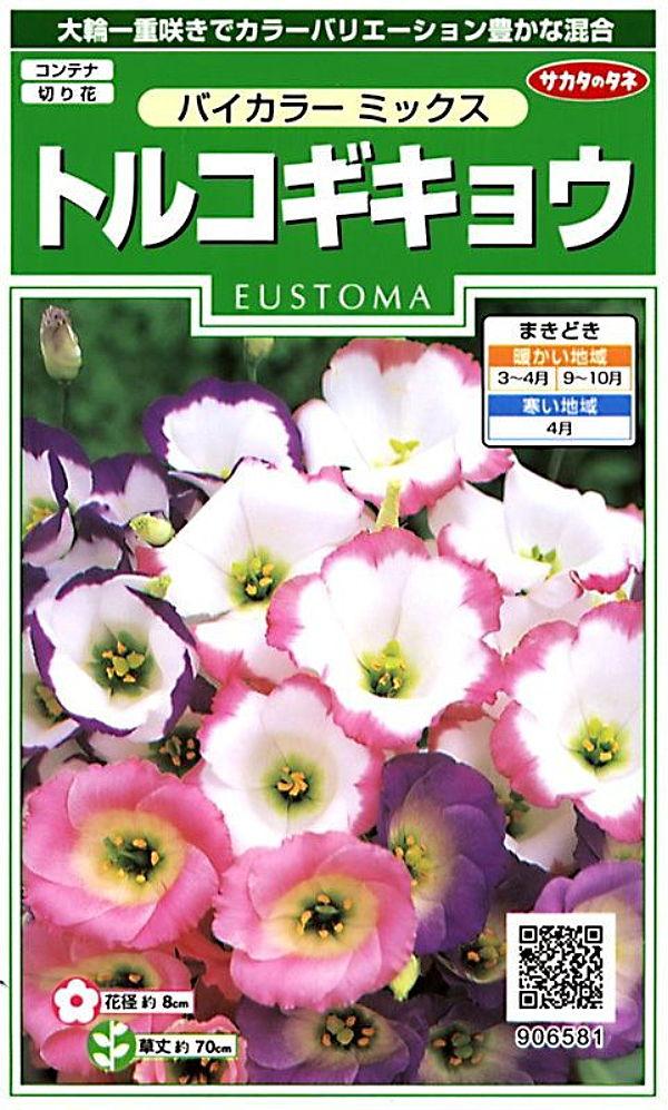 大輪咲きでカラーバリエーション豊かな混合 種子 トルコギキョウ バイカラーミックスサカタのタネ いよいよ人気ブランド ユーストマ 未使用品