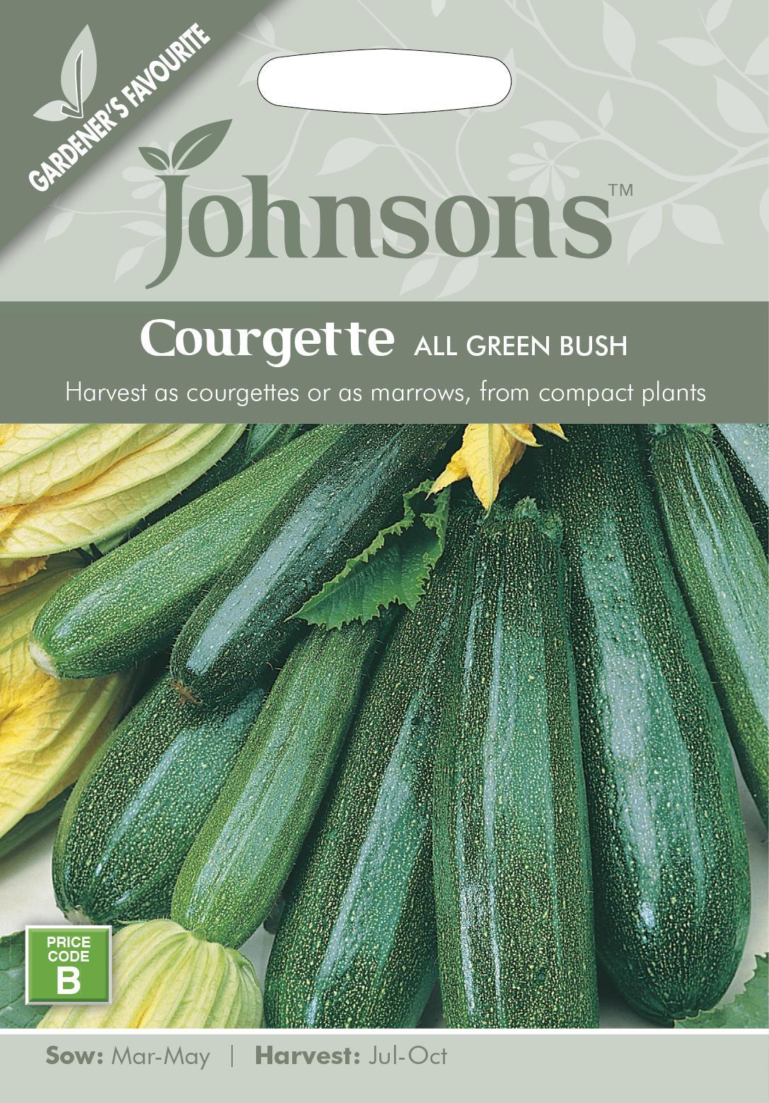 美しいダーク グリーンの柔らかいズッキーニ 輸入種子 Johnsons Seeds Courgette All Green スカッシュ クルジェット 日本限定 Bush ジョンソンズシード グリーン ブッシュ 上質 オール