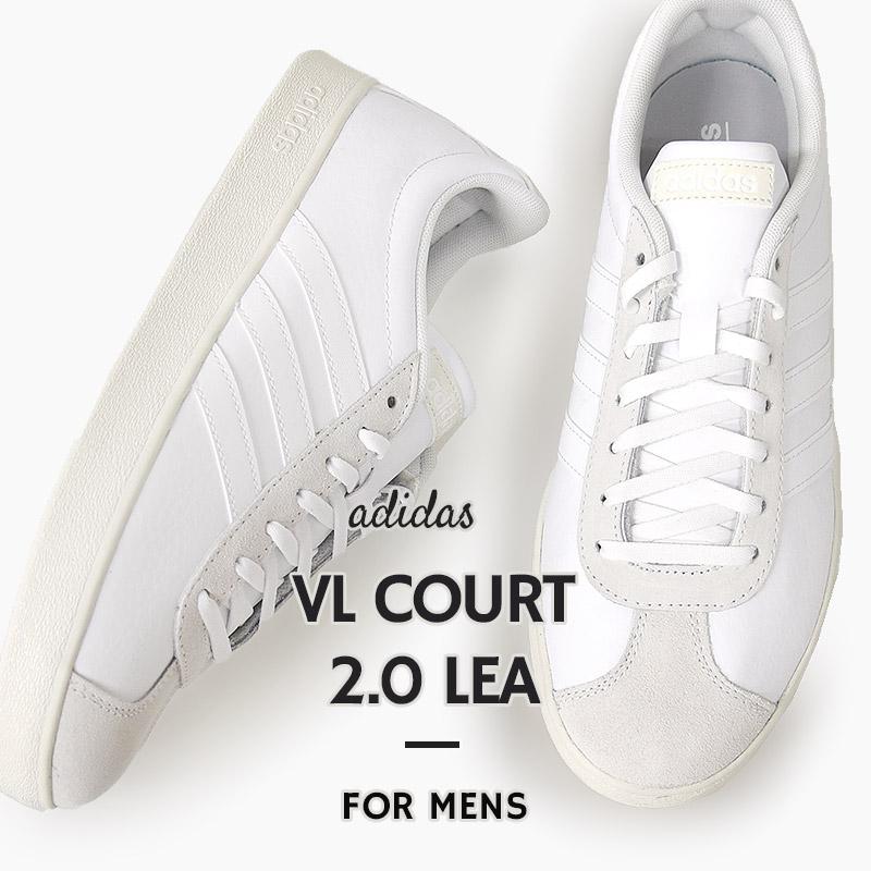 コートシューズ ホワイト 訳あり商品 アディダス adidas スニーカー メンズ カジュアル シューズ ファッション LEA 白 靴 COURT 2.0 VL F34554 メーカー公式