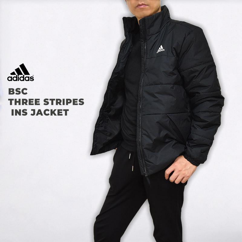3ストライプス インシュレーション ジャケット アディダス adidas メンズ アウター ウエア スポーツウェア トレーニング BSC ファッション 運動 スリーストライプス 2020春夏新作 DZ1396 INS 休日 黒 ブラック