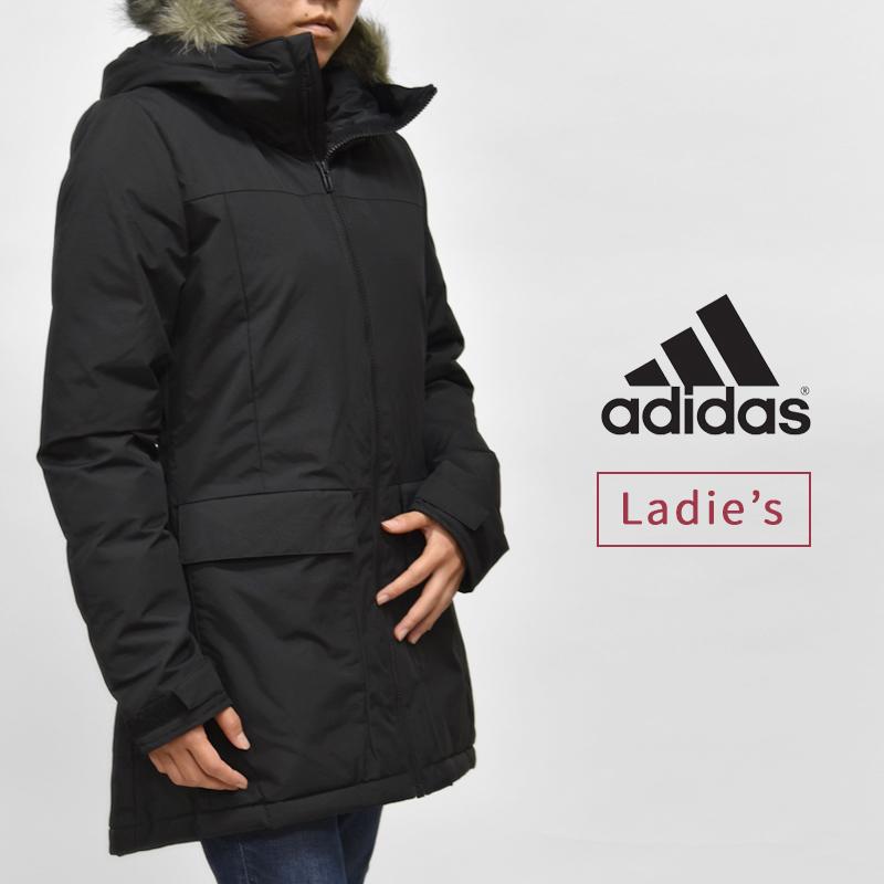 暖かさと実用性を備えた 本格仕様のインサレーションウエア アディダス adidas レディース 《週末限定タイムセール》 店内限界値引き中 セルフラッピング無料 カジュアル ファッション レジャー ウエア パーカ 黒 W アウター XPLORIC BQ6803