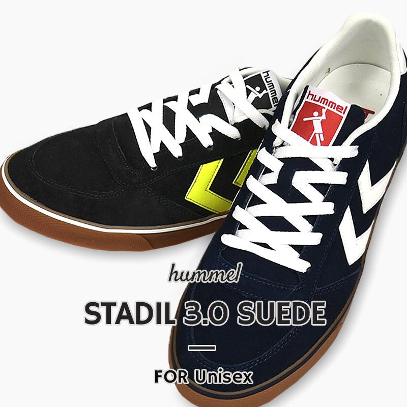 キャンバスシューズをアメゴムでクラシカルにアップデート ヒュンメル hummel スニーカー 誕生日/お祝い カジュアル 賜物 シューズ 靴 2001 STADIL 3.0 HM206045 SUEDE 1009 ローカット