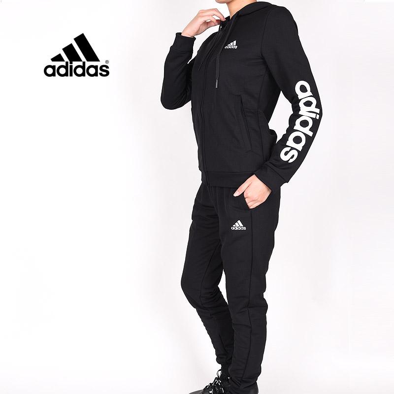 スウェットスーツ 上下セット ブラック アディダス adidas レディース スポーツウェア 新色追加 ウエア スウェットトラックスーツ 黒 ランニング オンラインショッピング ESS GM5575 W 運動 トレーニング
