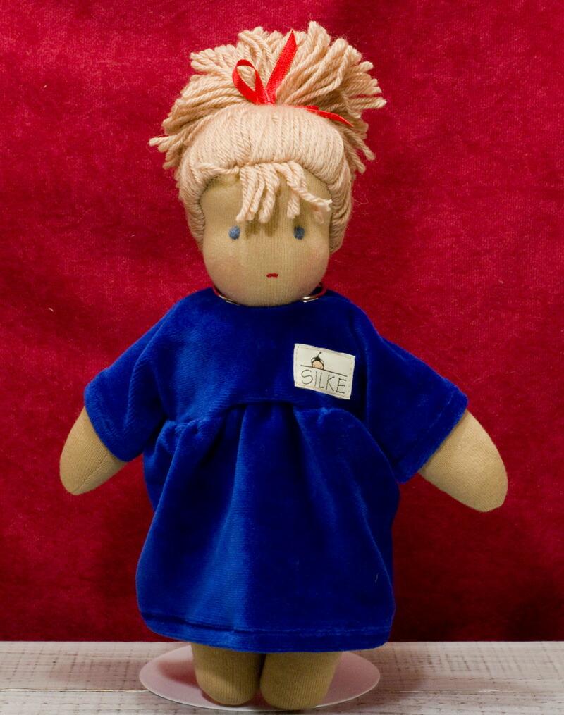 ケーセン ぬいぐるみ kosen ケーセン ジルケ人形 kosen Silke ロッテ 青 LOTTE, BLOND 28cm KOSEN 知育玩具  リアル 動物