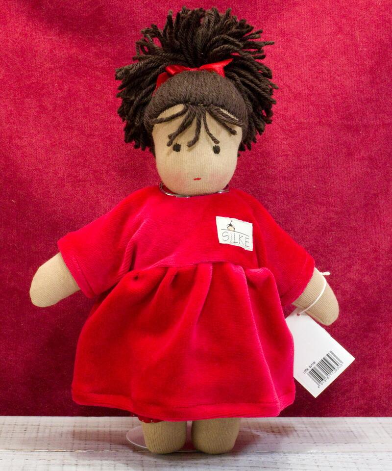 ケーセン ぬいぐるみ kosen ケーセン ジルケ人形 kosen Silke ロッテ 赤 LOTTE, DUNKEL 28cm KOSEN 知育玩具  リアル 動物