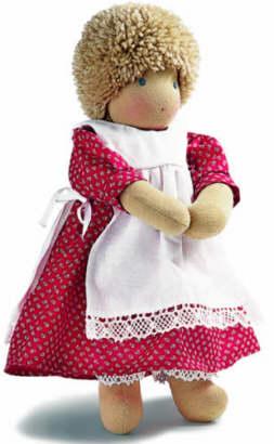 ジルケ人形(SILKE) クリューメル 女の子 (KRUMEL - SIE) 35cm KOSEN(ケーセン社)知育玩具 プレゼント/リアル/動物/ギフト/子供/女の子/男の子/ぬいぐるみ/クリスマス