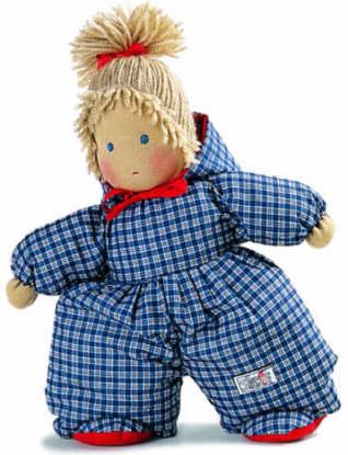 ケーセン ぬいぐるみ kosen ケーセン ジルケ人形 kosen Silke ANNI, BLAU 26cm 知育玩具 リアル 動物