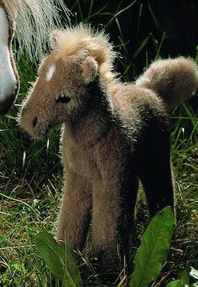 ハフリンガーの子 KOSEN(ケーセン社) 24cm Austrian Haflinger Foal/ぬいぐるみ プレゼント/リアル/動物/ギフト/子供/女の子/男の子/大人/クリスマス