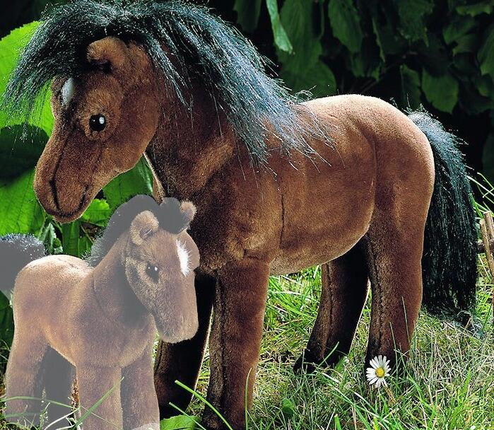 ブラウンホース(大)濃茶 KOSEN(ケーセン社) 38cm Brown Riding Horse/ぬいぐるみ プレゼント/リアル/動物/ギフト/子供/女の子/男の子/大人/クリスマス