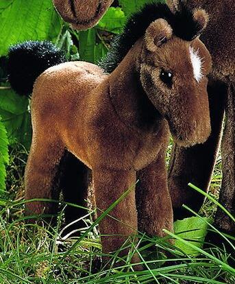 子馬 茶 KOSEN(ケーセン社) 24cm 褐色 Riding Horse Foal/ぬいぐるみ プレゼント/リアル/動物/ギフト/子供/女の子/男の子/大人/クリスマス