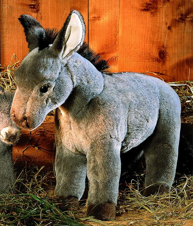 ケーセン ぬいぐるみ kosen ろば グレー 35cm Donkey リアル 動物