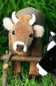 """うし 茶 KOSEN(ケーセン社) 39cm """"Alma"""" Cow/ぬいぐるみ プレゼント/リアル/動物/ギフト/子供/女の子/男の子/大人/クリスマス"""