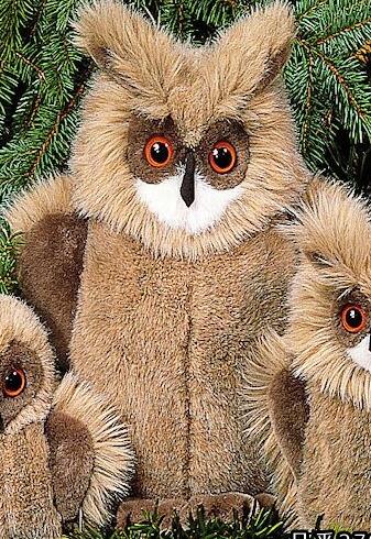 ワシミミズク(大) KOSEN(ケーセン社) 35cm Eagle Owl/鳥/ぬいぐるみ プレゼント/リアル/動物/ギフト/子供/女の子/男の子/大人/クリスマス